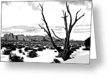 Dead Tree In Winter Greeting Card by Jack McAward