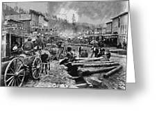Deadwood South Dakota C. 1876 Greeting Card by Daniel Hagerman