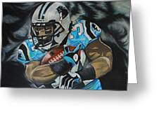 Deangelo Williams Greeting Card by Ryan Doray