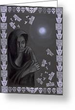 Death Crone Greeting Card by Diana Perfect