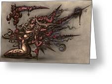 Death's Angel Greeting Card by David Bollt