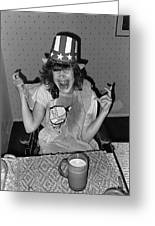 Debbie C. Celebrating July 4th Lincoln Gardens Tucson Arizona 1990 Greeting Card by David Lee Guss