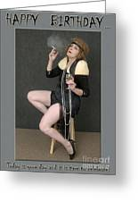Decadent Flapper Birthday Greeting Card Greeting Card by Andrew Govan Dantzler