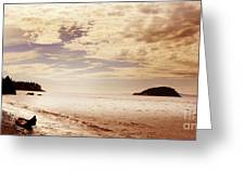 Deception Bay Washington Greeting Card by Artist and Photographer Laura Wrede