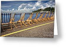 Deckchairs At Southend Greeting Card by Avalon Fine Art Photography