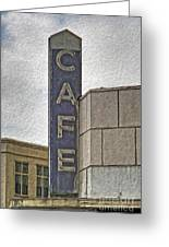 Deco Cafe - 01 Greeting Card by Gregory Dyer