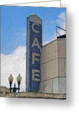 Deco Cafe - 02 Greeting Card by Gregory Dyer