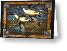 Deco Pintail Ducks Greeting Card by JQ Licensing