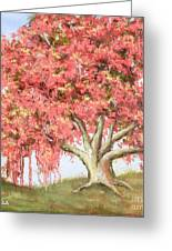 Deco Tree Greeting Card by Vic  Mastis