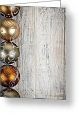 Decorated Christmas Ornaments Greeting Card by Elena Elisseeva