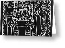Decorated Elephant Greeting Card by Caroline Street