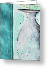 Decorative Floral Vase Painting Shabby Chic Style Relax And Unwind I By Madart Studios Greeting Card by Megan Duncanson