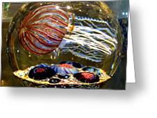 Decorative Jellyfish Greeting Card by Jim Fitzpatrick