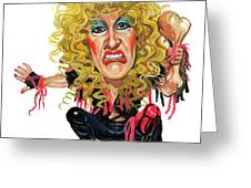 Dee Snider Greeting Card by Art