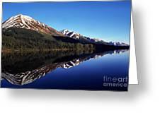 Deep Blue Lake Alaska Greeting Card by Thomas R Fletcher
