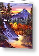 Deep Canyon Falls Greeting Card by David Lloyd Glover