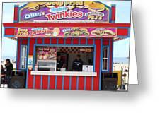 Deep Fried Hostess Twinkies At The Santa Cruz Beach Boardwalk California 5d23689 Greeting Card by Wingsdomain Art and Photography