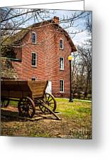 Deep River Wood's Grist Mill And Wagon Greeting Card by Paul Velgos