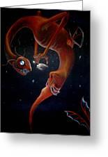 Deep Sea Dragon Greeting Card by Carin Billings