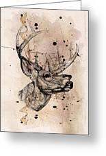 Deer 4 Greeting Card by Mark Ashkenazi