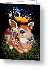 Deer Fawn Greeting Card by Jurek Zamoyski