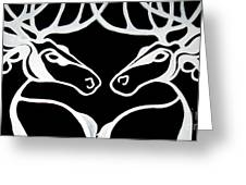 Deer Work Greeting Card by Amy Sorrell