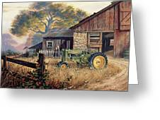Deere Country Greeting Card by Michael Humphries