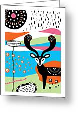 Deery Me Greeting Card by Susan Claire