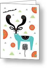 Deery Mountain Greeting Card by Susan Claire