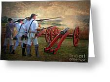 Defending Bemis Heights 1777 Greeting Card by Lianne Schneider