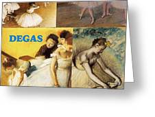 Degas Collage Greeting Card by Philip Ralley