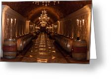 Del Dotto Wine Cellar Greeting Card by Scott Campbell