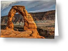 Delicate Arch Greeting Card by Jeff Burton