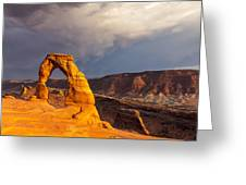 Delicate Arch Greeting Card by Jim Baker