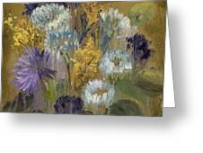 Delicate Aroma II -Unfarmed-with Gold Leaf by Vic Mastis Greeting Card by Vic  Mastis