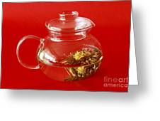Delightful Blooming Tea Greeting Card by Inspired Nature Photography By Shelley Myke