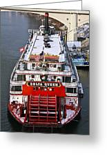 Delta Queen In Christmas Snow Greeting Card by Tom and Pat Cory