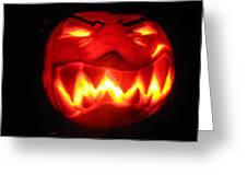 Demented Mister Ullman Pumpkin Greeting Card by Shawn Dall