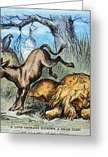 Democrat Donkey 1870 Greeting Card by Granger