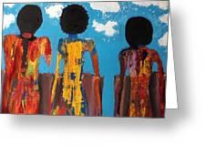 Demoiselles De Marrakesh Greeting Card by Omar Hafidi