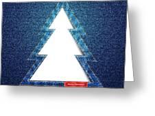 Denim Tree Cutout Greeting Card by Jane Rix