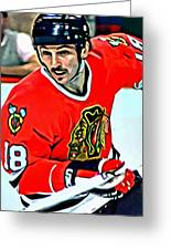 Denis Savard Greeting Card by Florian Rodarte