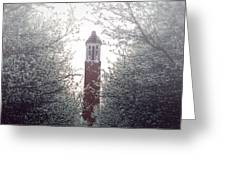 Denny Chimes Foggy Blossoms Greeting Card by Ben Shields