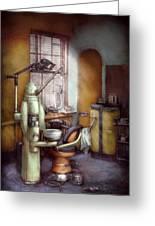 Dentist - Dental Office Circa 1940's Greeting Card by Mike Savad