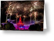 Denver Co 4th Of July Fireworks Greeting Card by Teri Virbickis