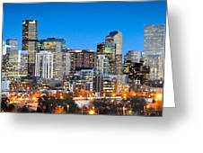 Denver Twilight Greeting Card by Kevin Munro