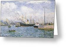 Departure From Havre Greeting Card by Maxime Emile Louis Maufra