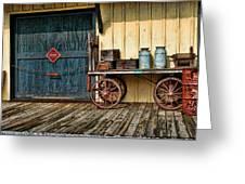 Depot Wagon Greeting Card by Kenny Francis