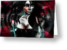 Depraved Of Dreams Greeting Card by Ashantaey Sunny-Fay