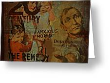 Depression In The 20th Century - 2 Greeting Card by Jeff Burgess